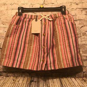 Zara Girls pink skirt with pink slip size under